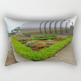 the metal ball and the small garden Rectangular Pillow