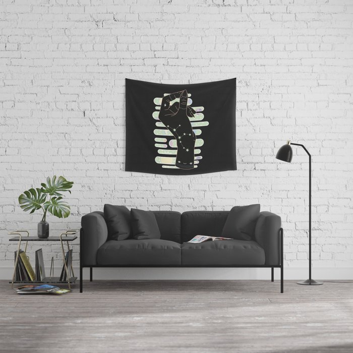 Virgo - Zodiac Illustration Wall Tapestry