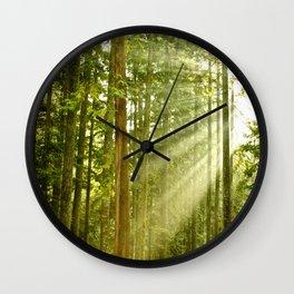 A Light Peeks Through Wall Clock