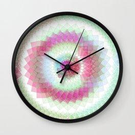 Orb mandala 5 sky blue / crimson Wall Clock