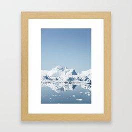 arctic icebergs II Framed Art Print