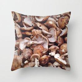 The Avant-Garden Forage || Shiitake Mushroom Throw Pillow