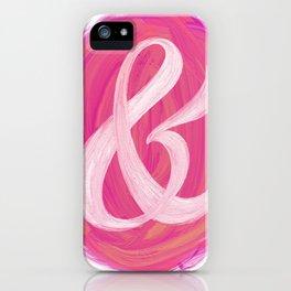 Thick Swirl Ampersand Warm iPhone Case