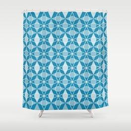 Rhombus Pattern, Pacific Blue Shower Curtain