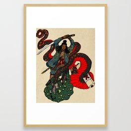 Jiraiya Samurai Framed Art Print