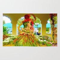 princess bride Area & Throw Rugs featuring Princess Flora by Irfan Gillani