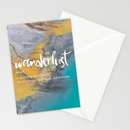 Wanderlust Definition - Topographical Map Stationery Cards