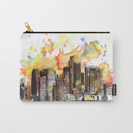 Los Angeles Cityscape Skyline Painting Carry-All Pouch