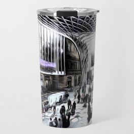 Kings Cross Station London Art Travel Mug