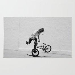 Flatland BMX Rider Rug
