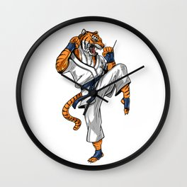 Tiger Karate Wall Clock