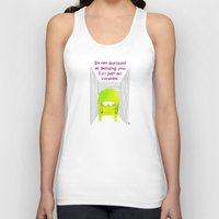 introvert Tank Tops featuring Introvert by Chika Ando