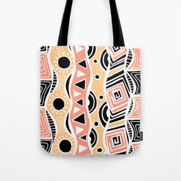 Four Waves - Black Orange Yellow Tote Bag