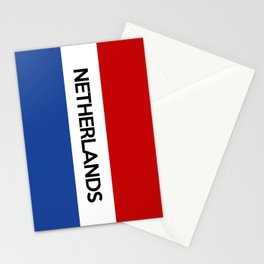 netherlands country flag name text Stationery Cards