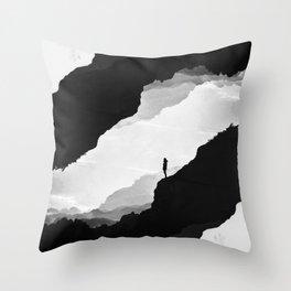 White Isolation Throw Pillow