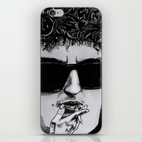 bob dylan iPhone & iPod Skins featuring Bob Dylan by Drawn by Nina