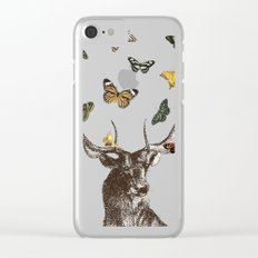 The Stag and Butterflies Clear iPhone Case