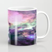 nebula Mugs featuring Pastel nebULa by 2sweet4words Designs