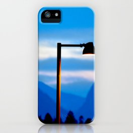 Mountains and a Lamp post iPhone Case
