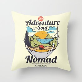 The Adventure Soul Throw Pillow