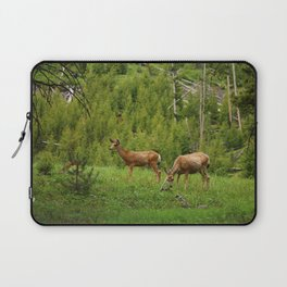 Wapiti In Yellowstone N P Laptop Sleeve