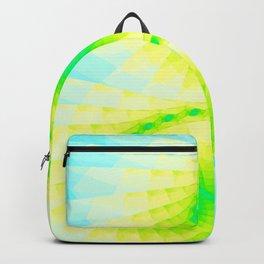 Fractal Blue Sky Gold Design Backpack