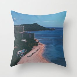 In The Sky Over Hawaii Throw Pillow