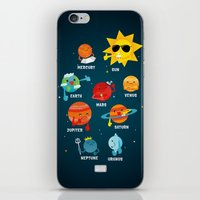 solar system iPhone & iPod Skins featuring Solar System by Duck Duck Moose