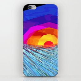 Waves at Sunrise Two iPhone Skin