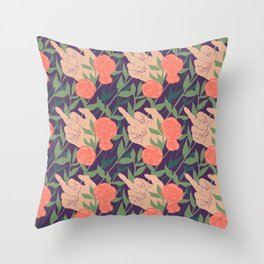 Mrs. Robinson Pattern Revamp Throw Pillow