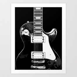 Electric Guitar | Vintage | Black and White | Photography Art Print