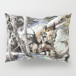 Horses in the Winter Pillow Sham