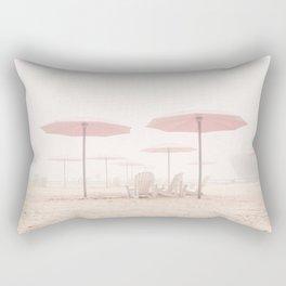 Foggy Beach Rectangular Pillow