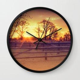 February winter morning Wall Clock