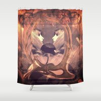 mirror Shower Curtains featuring Mirror by WDeluxe