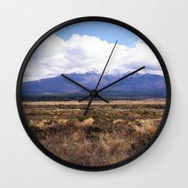 Mount Ruapehu Wall Clock