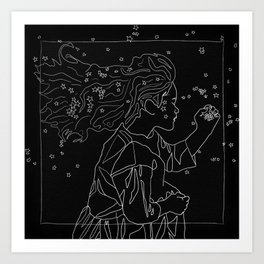 Goodnight little girl Art Print