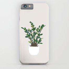 Minimal Art - Indoor Plant, ZZ Plant iPhone Case