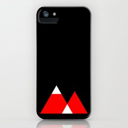 Mountain Triangle Snow Nerd Hipster iPhone Case