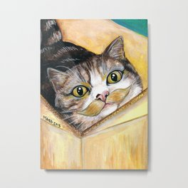 Maru - Cats with Moustaches Metal Print