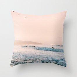 Sunset Surf Throw Pillow