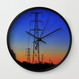 Power lines 15 Wall Clock