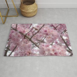 Cherry Blossoms Flowers Rug