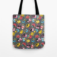 wrestling Tote Bags featuring Wrestling Academy pattern by TokyoCandies