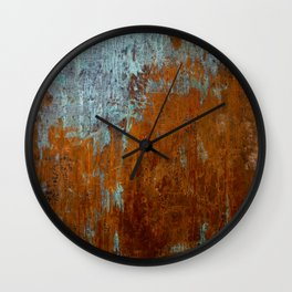 Rust Texture Painting Wall Clock