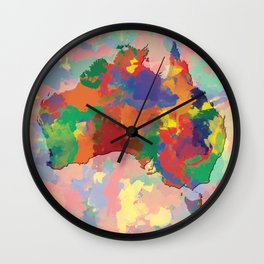 Australia, Outline, Map Wall Clock