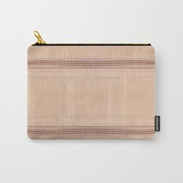 Beige zipper on leather cloth texture Carry-All Pouch