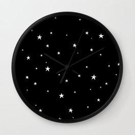 Tiny Stars Dark Wall Clock