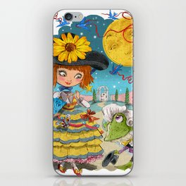 Froggy Went a Courting iPhone Skin