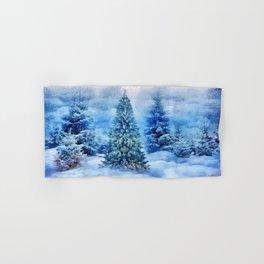 Christmas tree scene Hand & Bath Towel